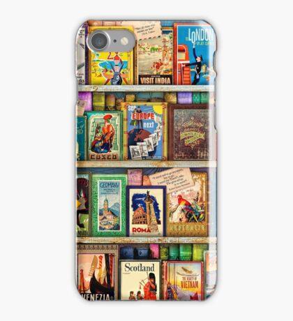 Travel Guide Book Shelf iPhone Case/Skin