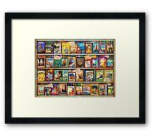 Travel Guide Book Shelf Framed Print