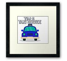 Tim's Taxi Service Framed Print