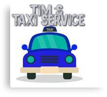 Tim's Taxi Service Canvas Print