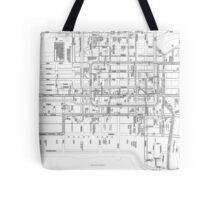 City of Chicago transit in black and white Tote Bag