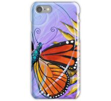 Abstract Butterfly and Sunflower Original Design, Scarpace, 2016 iPhone Case/Skin