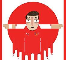 Mesut Ozil - Arsenal by Gary Ralphs