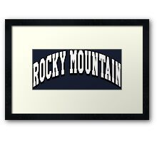 Rocky Mountain Classic Framed Print
