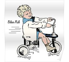 "Vintage 30s Tricycle Boy ""colour"" Poster"