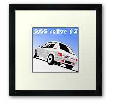 Peugeot 205 Rallye Framed Print
