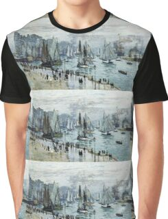 Claude Monet - Fishing Boats Leaving The Harbor Le Havre Graphic T-Shirt