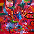 Red Abstract  by Karin Zeller