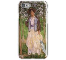 Claude Monet - The Stroller Suzanne Hoschede iPhone Case/Skin