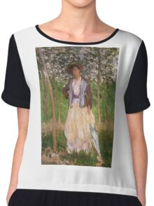 Claude Monet - The Stroller Suzanne Hoschede Chiffon Top