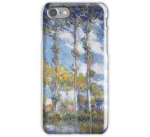 Claude Monet - Poplars iPhone Case/Skin