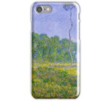 Claude Monet - Spring Landscape iPhone Case/Skin