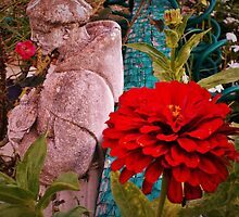 Stone Man still smells the flowers by alan barbour
