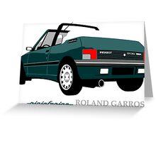 Peugeot 205 cabriolet Roland Garros Greeting Card