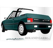Peugeot 205 cabriolet Roland Garros Poster
