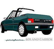 Peugeot 205 cabriolet Roland Garros Photographic Print
