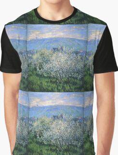Claude Monet - Plums Blossom Graphic T-Shirt