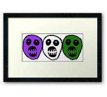 Gender Queer colour Boosh heads Framed Print