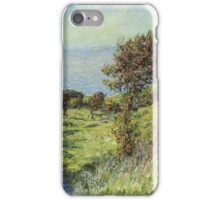 Claude Monet - Cliffs Of Varengeville Gust Of Wind iPhone Case/Skin