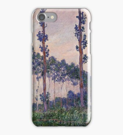 Claude Monet - Three Trees In Grey Weather iPhone Case/Skin