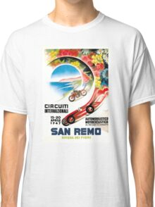 1947 San Remo Grand Prix Race Poster Classic T-Shirt