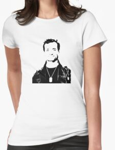 Bill Murray Stripes - Black Outline Womens Fitted T-Shirt