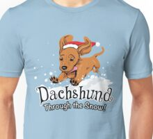Dachshund Through The Snow - Ugly Sweater - Christmas Gift Unisex T-Shirt