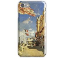 Claude Monet - The Hotel Des Roches Noires At Trouville 1870 iPhone Case/Skin