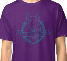 Paws To Pavement Dog Walking Turquoise & Purple Classic T-Shirt