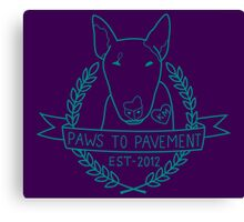 Paws To Pavement Dog Walking Turquoise & Purple Canvas Print