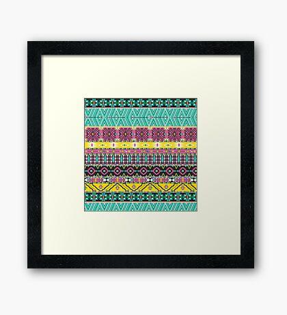 Trendy Tribal Framed Print