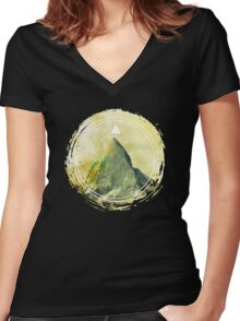 top of happiness Women's Fitted V-Neck T-Shirt