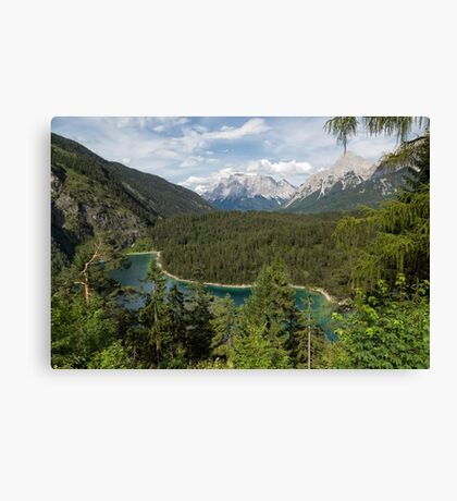 Lake Blindsee and Zugspitze Canvas Print