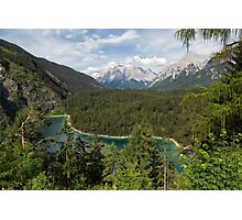 Lake Blindsee and Zugspitze Photographic Print