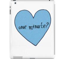 "Olitz ""One Minute"" Heart iPad Case/Skin"