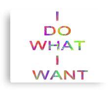 I DO WHAT I WANT Canvas Print