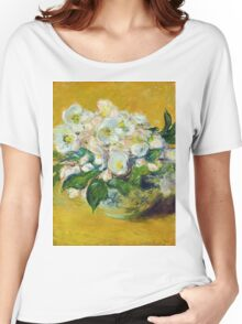 Claude Monet - Christmas Roses Women's Relaxed Fit T-Shirt