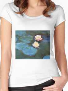Claude Monet - Water Lilies 1899 Women's Fitted Scoop T-Shirt