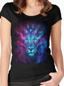 LION GALAXY TSHIRT Women's Fitted Scoop T-Shirt
