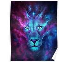 LION GALAXY TSHIRT Poster