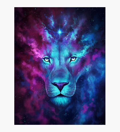 LION GALAXY TSHIRT Photographic Print