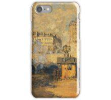 Claude Monet - Saint Lazare Station Sunlight Effect iPhone Case/Skin