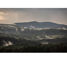Misty hills Photographic Print