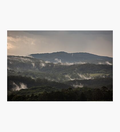 Misty hills Photographic Print