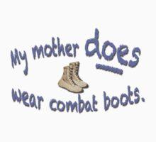 Combat Boots One Piece - Short Sleeve