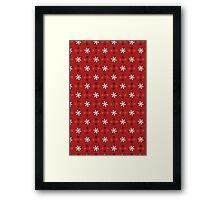 Christmas Pattern - Snowflakes Framed Print