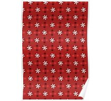Christmas Pattern - Snowflakes Poster