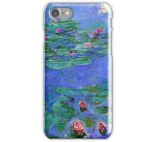Claude Monet - Water Lilies Red 1919 iPhone Case/Skin