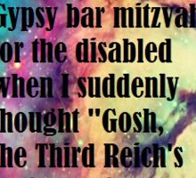 Gay Gypsy Bar Mitzvah  Sticker