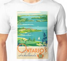 Ontario Vintage Travel Poster Unisex T-Shirt